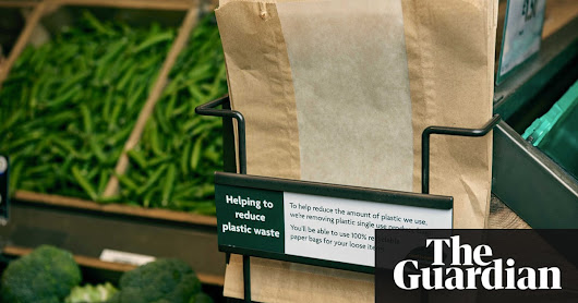 Little green bag: Morrisons revives paper in war on plastic | Business | The Guardian