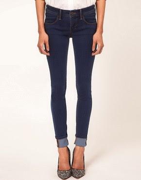 Image 1 ofBeg Borrow Or Steal Medium Blue Supersoft Skinny Jeans