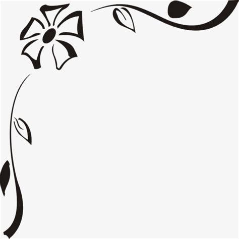 Monotone Corner Flower, Corner Clipart, Flower Clipart