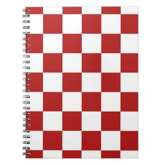 Checkered Red and White Notebooks