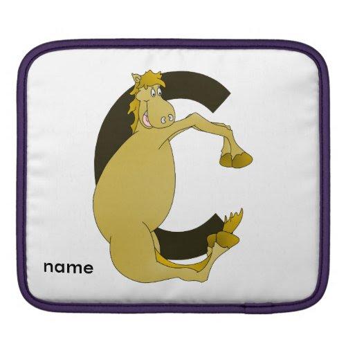 Monogram Pony C Sleeves For iPads