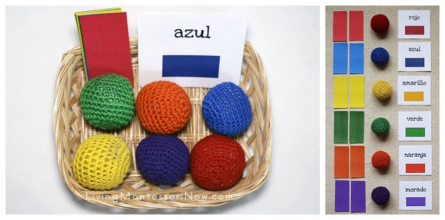 Color Tablets, Yarn Balls, and Spanish Colors