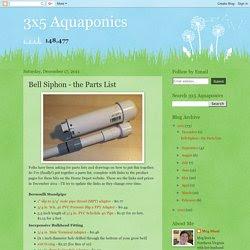 Bell Siphon Parts List
