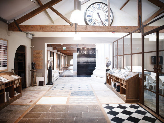 Library Stone Floor - Traditional - Living Room - london ...