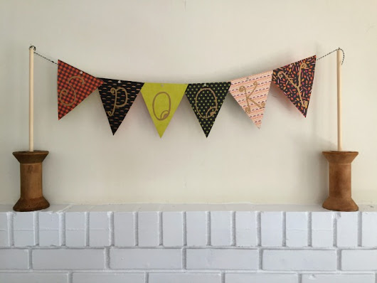DIY Pennant Banner with Vintage Spools (Swap It Like It's Hot)