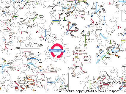 Tube Map Jigsaw Lizard Version