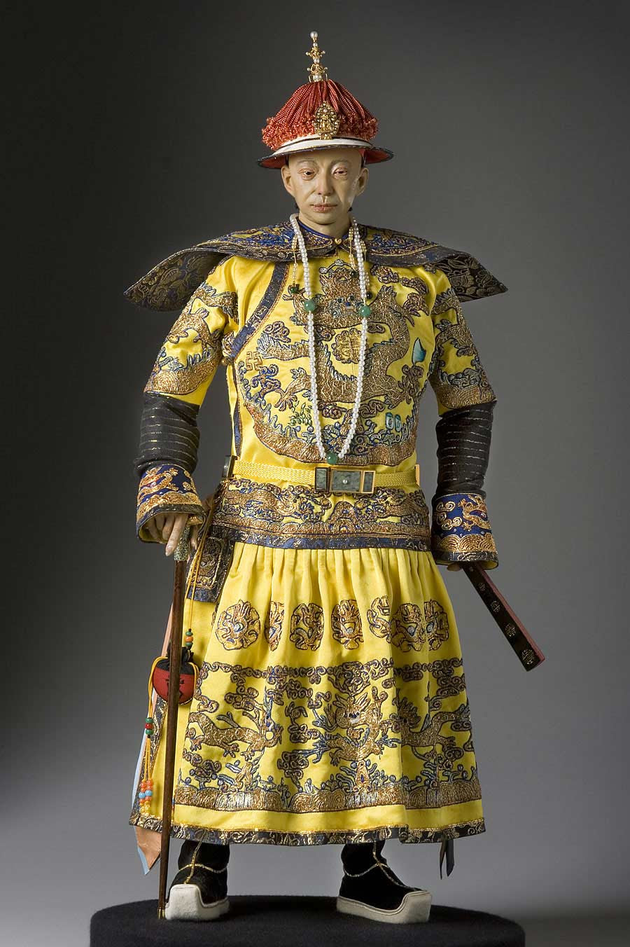 Full length color image of Hsien-Feng Emperor aka. Xianfeng Emperor, by George Stuart.
