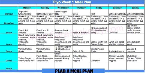 images  meal plans   week  pinterest