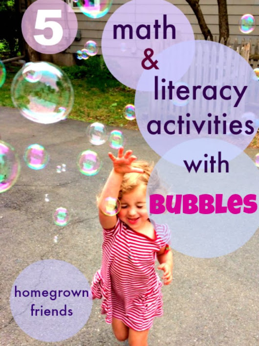 5 Math and Literacy Activities with Bubbles - Homegrown Friends