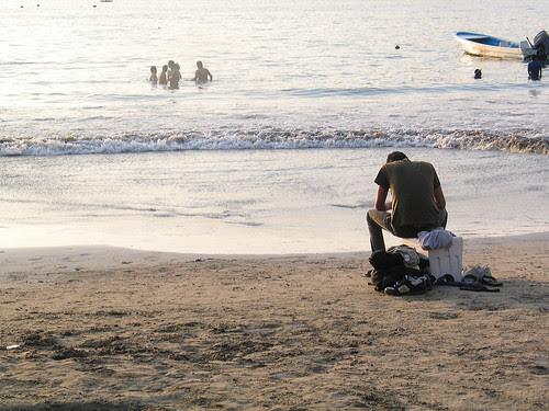 On the beach, Mexico
