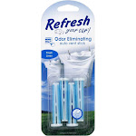 Refresh Your Car ! Auto Vent Stick Odor Eliminating Fresh Linen 4 vent sticks