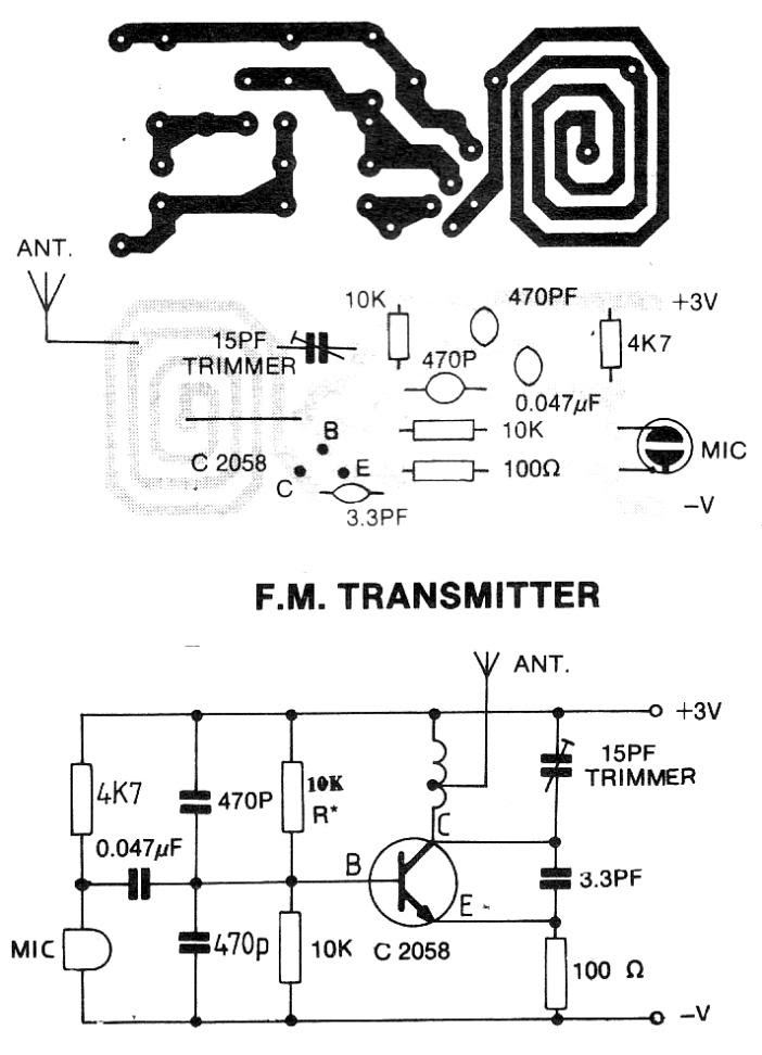 supply 9 volt fm transmitter circuit - circuit diagram images volt  wiring harness on 9 volt power