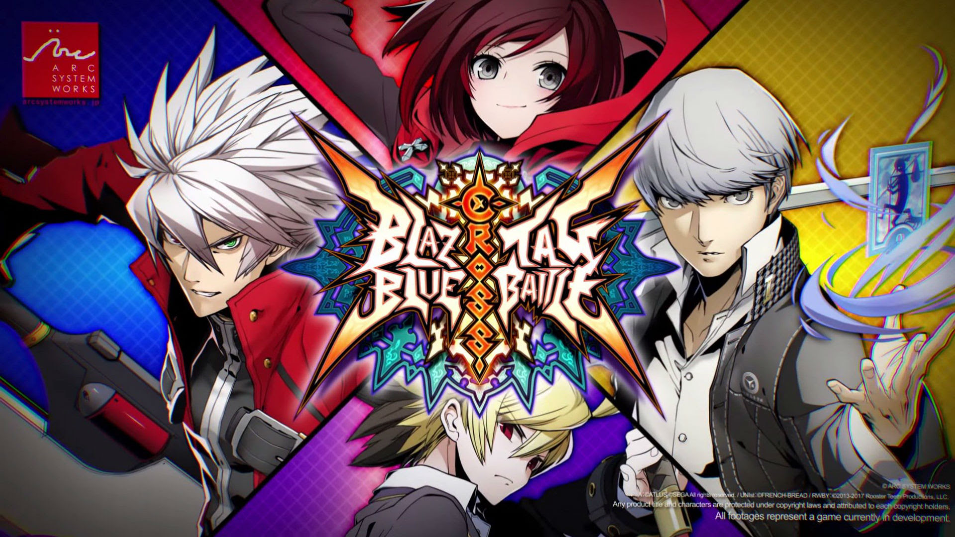 BlazBlue Crosstag Battle combines BlazBlue, Persona 4 Arena, and RWBY screenshot