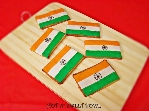 Craft For Flag Of India: HOT N' SWEET BOWL: Indian Flag Cookies