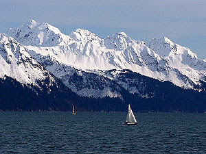 Resurrection Bay, Alaska, USA. Photo taken fro...