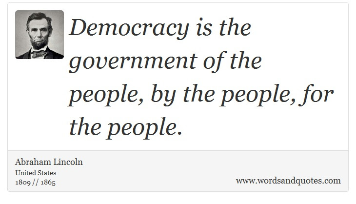On Democracy Democracy Is The Government Of The People By T
