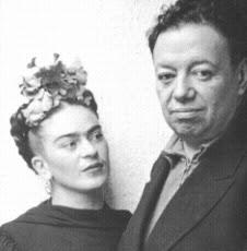 Fototografia di Nickolas Muray, Frida Kahlo col marito Diego Rivera, San Francisco, 1940