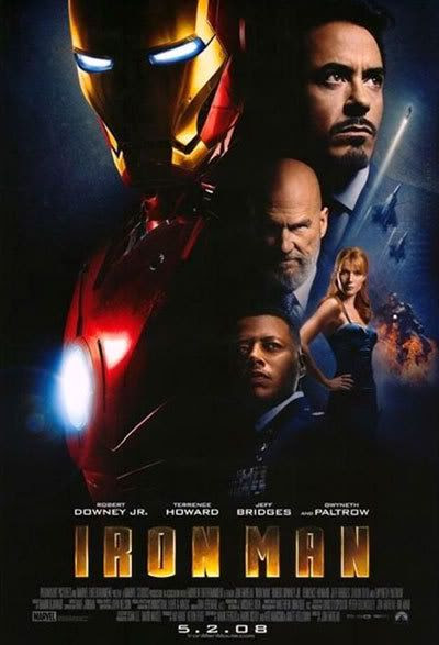 The IRON MAN theatrical poster.