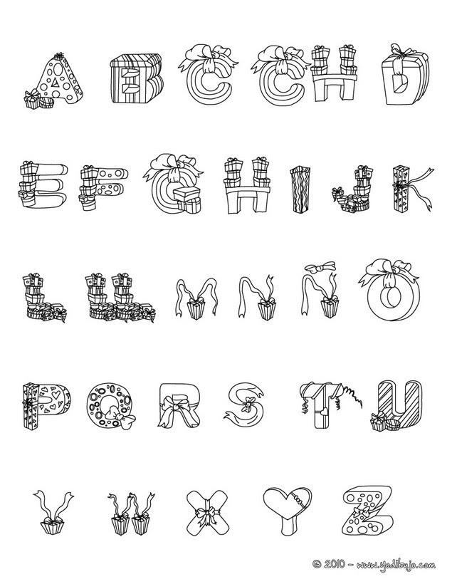 Dibujos Para Colorear Letras Regalos Es Hellokids Com