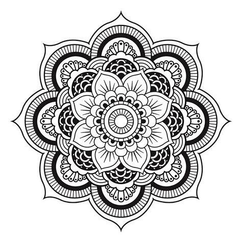 mandala tres harmonieux symbolisant une fleur