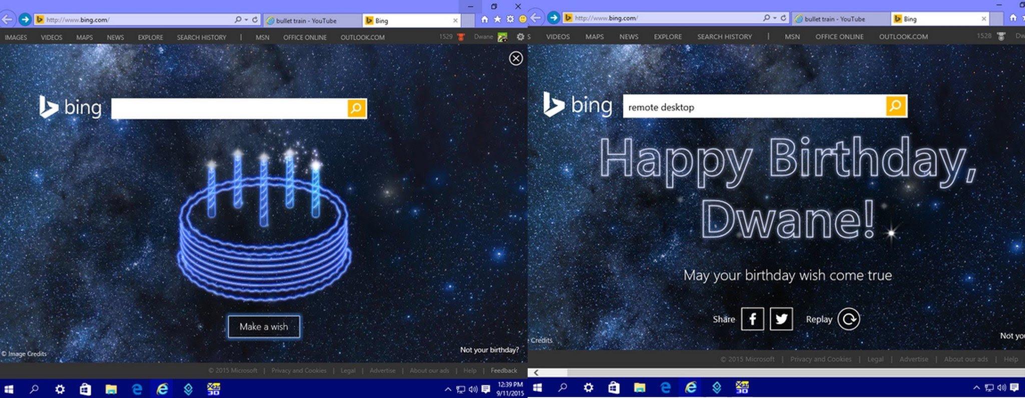 Bing Happy Birthday