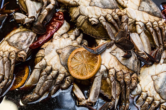 Marinated Fresh Crabs At The Market by James BO Insogna