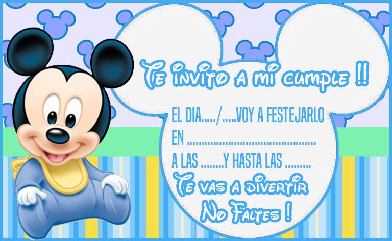 baby shower bebe mickey invitaciones para cumpleaños Bebé Mickey candy Kit bar imprimible