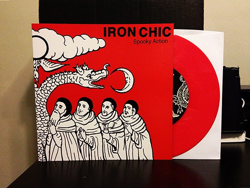 "Iron Chic - Spooky Action 7"" - US Version, Red Vinyl (/350) by Tim PopKid"