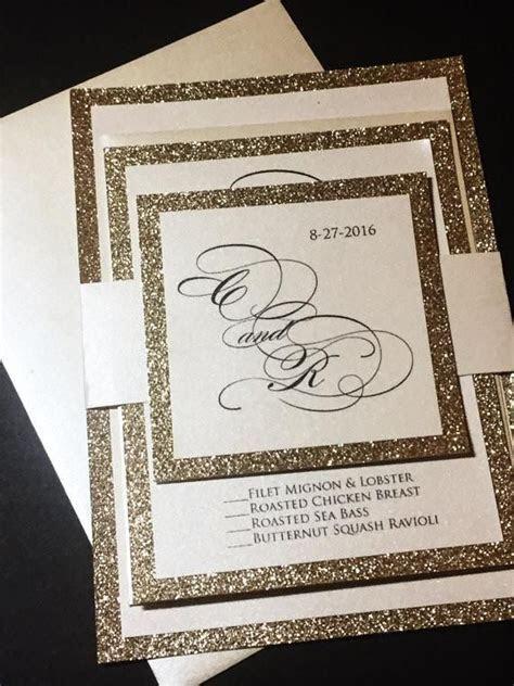 Best 25  Glitter wedding invitations ideas on Pinterest