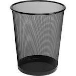 Rolodex 22351, Steel Round Mesh Trash Can, 4.5 gal, Black