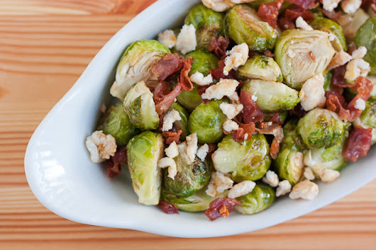 Sweet Roasted Brussels Sprouts With Prosciutto and Kettle Corn - Sustaining the Powers