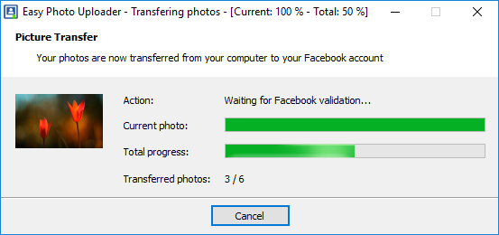 photo transfer to Facebook