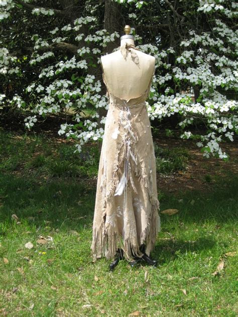 Leather Wedding Dress Native American Inspired Tribal Boho