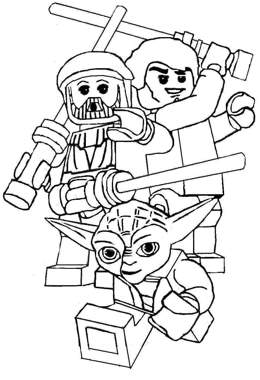 Lego Star Wars Coloring Pages FREE LEGO STAR WARS Coloring pages for kids