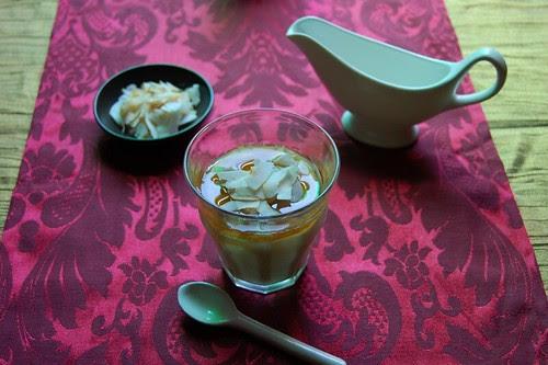 coconut custard with palm sugar syrup© by haalo