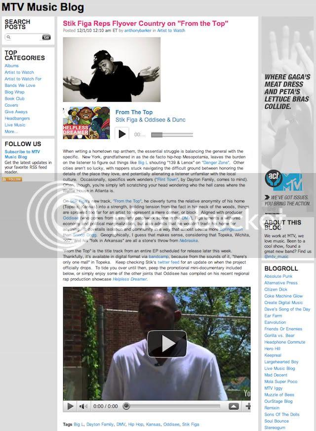 Stik Figa MTV Blog Post