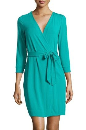 Diane von Furstenberg Knit Mini Wrap Dress