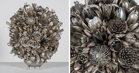 Artists Turns 100s Of Old Silver Spoons, Knives And Forks Into Stunning Bouquets