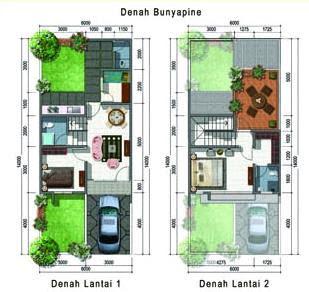 Contoh Denah Rumah Minimalis 2 Lantai Modern Jasa Desain Arsitektur Online