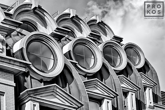 Willard Hotel Windows - Black & White Fine Art Photo by Andrew Prokos