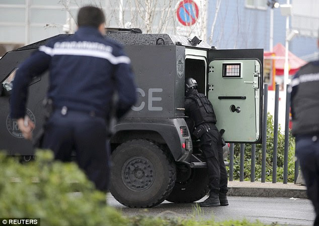 Passengers landing at Orly were kept on planes while the anti-terror operation was carried out