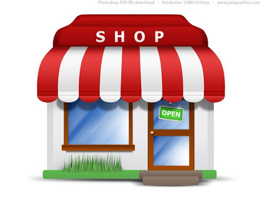 Small store icon (PSD) - 365psd