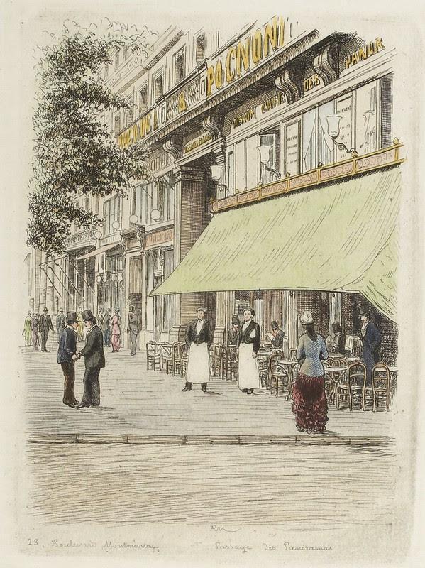 Boulevard Montmartre - Passage des Panoramas 1877