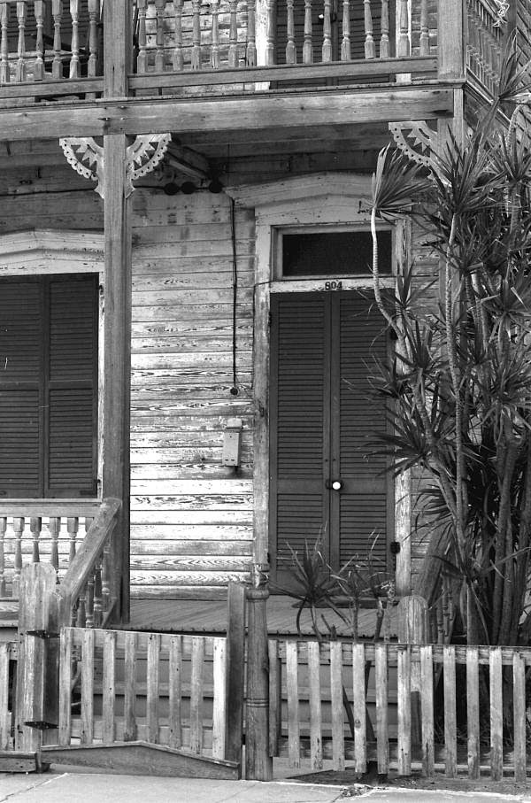 Front door of house located at 804 Caroline Street - Key West, Florida