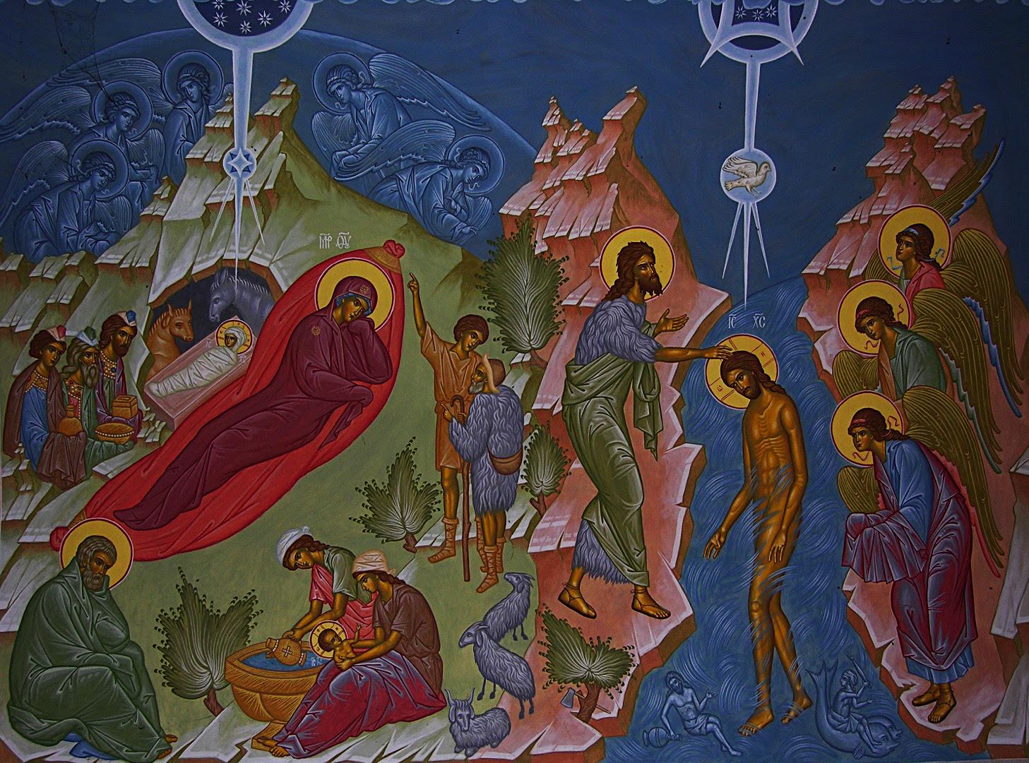 Αποτέλεσμα εικόνας για botez si nasterea domnului icoana