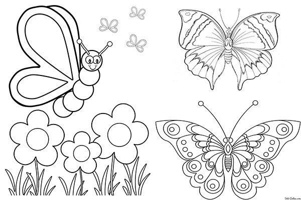 Dibujos De Mariposas Para Colorear Para Niños