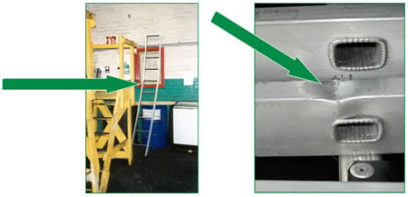 Work at height - Using leaning ladders safely