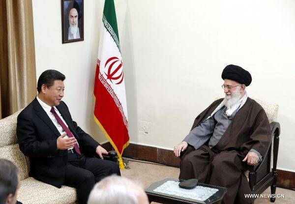 Entretien entre Xi Jinping et Ali Khamenei à Téhéran à Téhéran