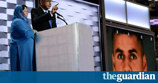 Trump attacks Muslim father's Democratic convention speech | US news | The Guardian
