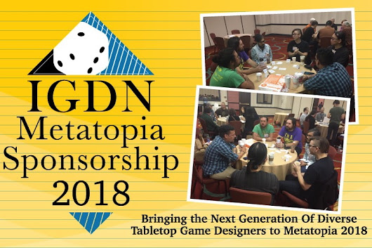 Click here to support IGDN Metatopia Sponsorship 2018 organized by IGDN IGDN